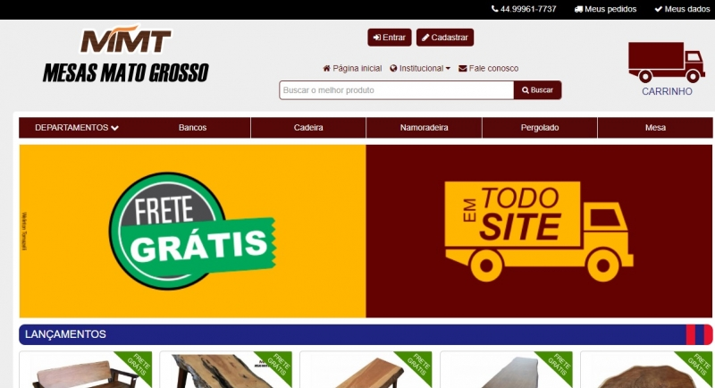 MMT - Mesas Mato Grosso contrata e-Commerce - Secondata - web sistemas